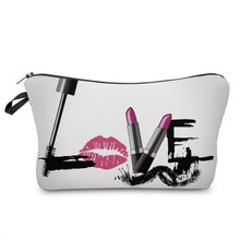 Load image into Gallery viewer, Letter Printed Makeup Bag-hair straightener,[product_type]-brush,SIMPLICITY Hair and Beauty -SimplicityHair&Beauty,41173-black,41173-hair-brush,[option2]-hair-curler,[option3]-flat-iron