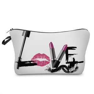 Letter Printed Makeup Bag-hair straightener,[product_type]-brush,SIMPLICITY Hair and Beauty -SimplicityHair&Beauty,41173-black,41173-hair-brush,[option2]-hair-curler,[option3]-flat-iron