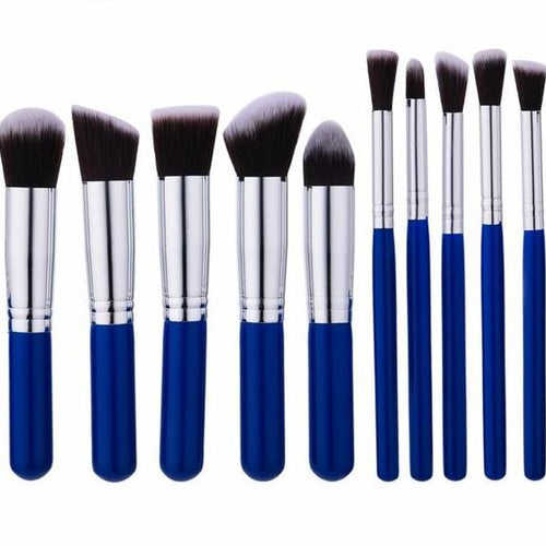 HQ 10pcs Makeup Brushes Set-hair straightener,[product_type]-brush,SIMPLICITY Hair and Beauty -SimplicityHair&Beauty,10pcs blue sliver / China-black,10pcs blue sliver-hair-brush,China-hair-curler,[option3]-flat-iron