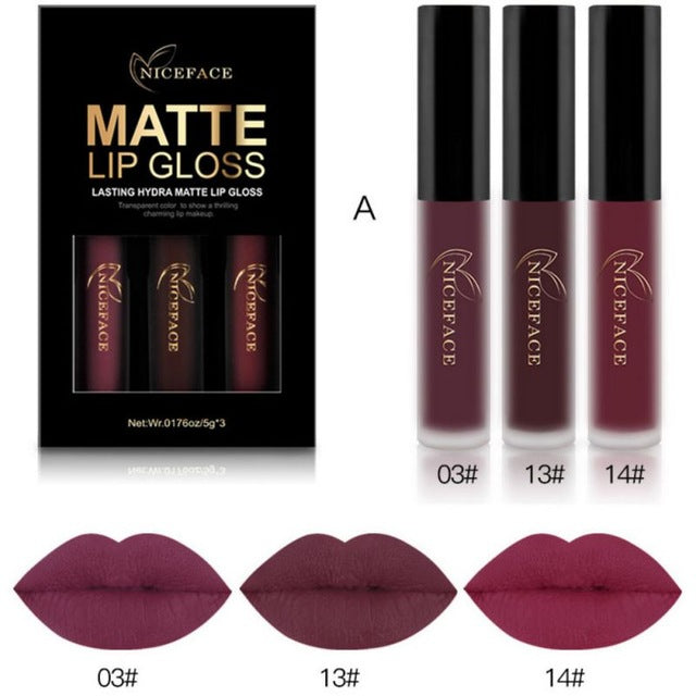Matte Lip Gloss-hair straightener,[product_type]-brush,SIMPLICITY Hair and Beauty -SimplicityHair&Beauty,A-black,A-hair-brush,[option2]-hair-curler,[option3]-flat-iron