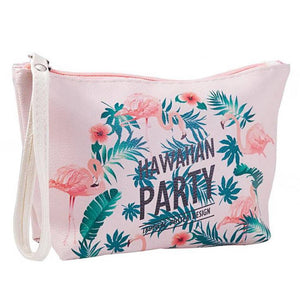 HAWAIIAN PARTY COSMETIC BAGS-hair straightener,[product_type]-brush,SIMPLICITY Hair and Beauty -SimplicityHair&Beauty,[variant_title]-black,[option1]-hair-brush,[option2]-hair-curler,[option3]-flat-iron