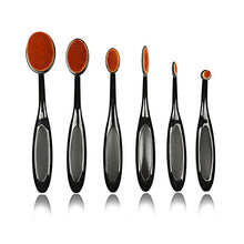 Load image into Gallery viewer, Oval Makeup Brush Set-hair straightener,[product_type]-brush,SIMPLICITY Hair and Beauty -SimplicityHair&Beauty,Black without box-black,Black without box-hair-brush,[option2]-hair-curler,[option3]-flat-iron