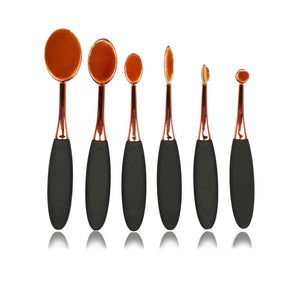 Oval Makeup Brush Set-hair straightener,[product_type]-brush,SIMPLICITY Hair and Beauty -SimplicityHair&Beauty,[variant_title]-black,[option1]-hair-brush,[option2]-hair-curler,[option3]-flat-iron