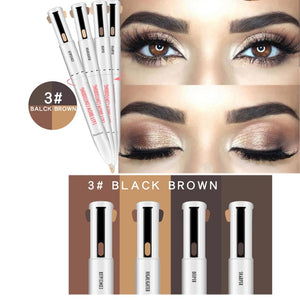 4-in-1 Defining & Highlighting Brow Pencil-hair straightener,[product_type]-brush,SIMPLICITY Hair and Beauty -SimplicityHair&Beauty,03-black,03-hair-brush,[option2]-hair-curler,[option3]-flat-iron