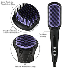 Load image into Gallery viewer, Detangling Straightening Brush 2.0-hair straightener,[product_type]-brush,SIMPLICITY Hair and Beauty -SimplicityHair&Beauty,[variant_title]-black,[option1]-hair-brush,[option2]-hair-curler,[option3]-flat-iron