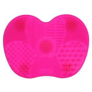 Silicone Brush Cleaner Mat-hair straightener,[product_type]-brush,SIMPLICITY Hair and Beauty -SimplicityHair&Beauty,Rose Red-black,Rose Red-hair-brush,[option2]-hair-curler,[option3]-flat-iron