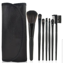 Load image into Gallery viewer, 7 pcs Pro Beauty Brush Set-hair straightener,[product_type]-brush,SIMPLICITY Hair and Beauty -SimplicityHair&Beauty,Black-black,Black-hair-brush,[option2]-hair-curler,[option3]-flat-iron