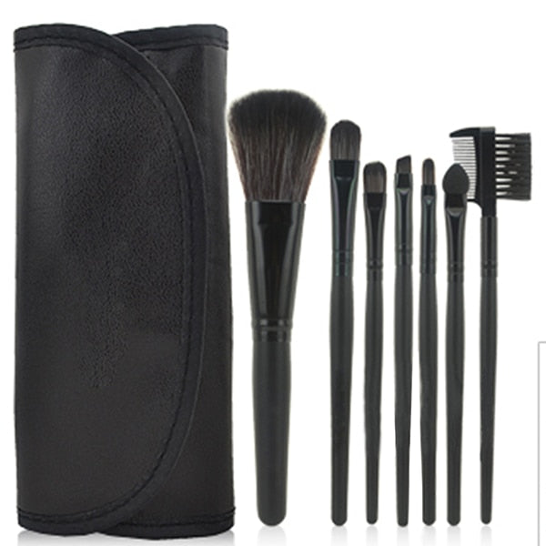7 pcs Pro Beauty Brush Set-hair straightener,[product_type]-brush,SIMPLICITY Hair and Beauty -SimplicityHair&Beauty,Black-black,Black-hair-brush,[option2]-hair-curler,[option3]-flat-iron
