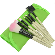 Load image into Gallery viewer, 7 pcs Pro Beauty Brush Set-hair straightener,[product_type]-brush,SIMPLICITY Hair and Beauty -SimplicityHair&Beauty,Green-black,Green-hair-brush,[option2]-hair-curler,[option3]-flat-iron