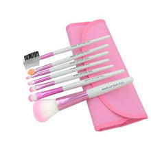 Load image into Gallery viewer, 7 pcs Pro Beauty Brush Set-hair straightener,[product_type]-brush,SIMPLICITY Hair and Beauty -SimplicityHair&Beauty,Pink-black,Pink-hair-brush,[option2]-hair-curler,[option3]-flat-iron