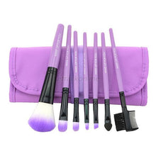 Load image into Gallery viewer, 7 pcs Pro Beauty Brush Set-hair straightener,[product_type]-brush,SIMPLICITY Hair and Beauty -SimplicityHair&Beauty,Purple-black,Purple-hair-brush,[option2]-hair-curler,[option3]-flat-iron