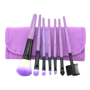 7 pcs Pro Beauty Brush Set-hair straightener,[product_type]-brush,SIMPLICITY Hair and Beauty -SimplicityHair&Beauty,Purple-black,Purple-hair-brush,[option2]-hair-curler,[option3]-flat-iron