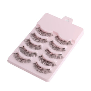 5 Pairs Synthetic Eyelashes-hair straightener,[product_type]-brush,SIMPLICITY Hair and Beauty -SimplicityHair&Beauty,[variant_title]-black,[option1]-hair-brush,[option2]-hair-curler,[option3]-flat-iron