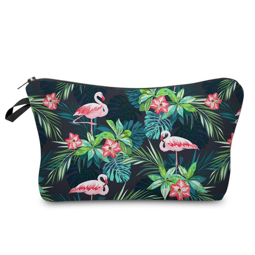 Tropical Makeup Bag-hair straightener,[product_type]-brush,SIMPLICITY Hair and Beauty -SimplicityHair&Beauty,[variant_title]-black,[option1]-hair-brush,[option2]-hair-curler,[option3]-flat-iron