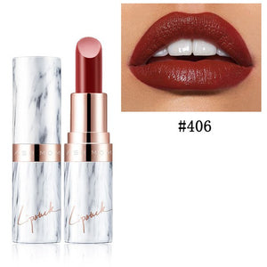 Marble Velvet Lipstick-hair straightener,[product_type]-brush,SIMPLICITY Hair and Beauty -SimplicityHair&Beauty,Red Brown 406-black,Red Brown 406-hair-brush,[option2]-hair-curler,[option3]-flat-iron