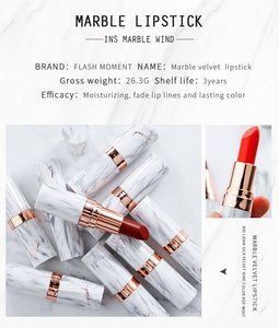 Marble Velvet Lipstick-hair straightener,[product_type]-brush,SIMPLICITY Hair and Beauty -SimplicityHair&Beauty,[variant_title]-black,[option1]-hair-brush,[option2]-hair-curler,[option3]-flat-iron