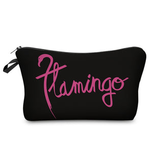 3D Printed Flamingo Makeup Bag-hair straightener,[product_type]-brush,SIMPLICITY Hair and Beauty -SimplicityHair&Beauty,[variant_title]-black,[option1]-hair-brush,[option2]-hair-curler,[option3]-flat-iron