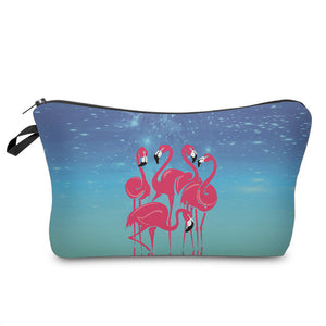 3D Printed Flamingo Makeup Bag-hair straightener,[product_type]-brush,SIMPLICITY Hair and Beauty -SimplicityHair&Beauty,50102-black,50102-hair-brush,[option2]-hair-curler,[option3]-flat-iron