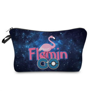 3D Printed Flamingo Makeup Bag-hair straightener,[product_type]-brush,SIMPLICITY Hair and Beauty -SimplicityHair&Beauty,51069-black,51069-hair-brush,[option2]-hair-curler,[option3]-flat-iron