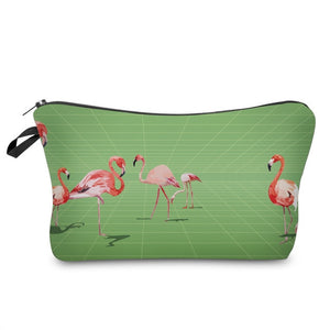 3D Printed Flamingo Makeup Bag-hair straightener,[product_type]-brush,SIMPLICITY Hair and Beauty -SimplicityHair&Beauty,51074-black,51074-hair-brush,[option2]-hair-curler,[option3]-flat-iron