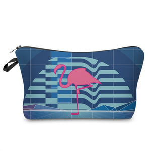 3D Printed Flamingo Makeup Bag-hair straightener,[product_type]-brush,SIMPLICITY Hair and Beauty -SimplicityHair&Beauty,51075-black,51075-hair-brush,[option2]-hair-curler,[option3]-flat-iron