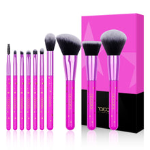 Load image into Gallery viewer, Lavender Star Makeup Brush Set-hair straightener,[product_type]-brush,SIMPLICITY Hair and Beauty -SimplicityHair&Beauty,[variant_title]-black,[option1]-hair-brush,[option2]-hair-curler,[option3]-flat-iron