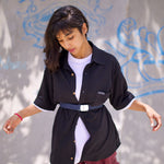 Blackout Shirt by Holystoked worn by a bgirl from India
