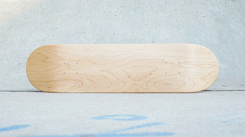 Blank Skateboard Deck Top View