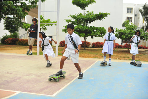Skateboarding Lessons for school children in Bangalore by Holystoked