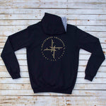 Holystoked Apparel -  logo hoodie from rear view.