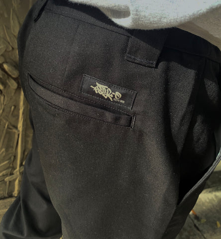 Close up shot of STYLO Black Chino Pants
