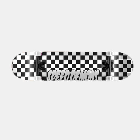 "Speed Demons Checkers 8.0"" Complete Skateboard"