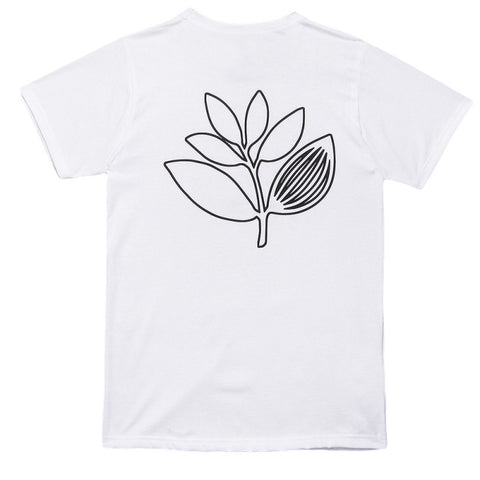 Magenta Outline White Tee