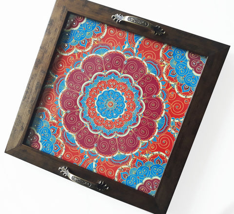 Mandala Design Square Tray