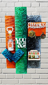 Handmade Wall Decoration Art For Dad's Bar-Wall Hanging