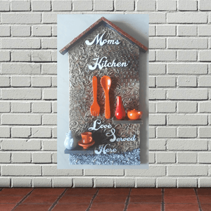 Decorative Moms Kitchen Art -Wall Hanging