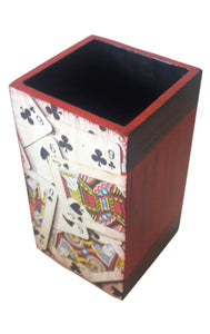 Playing Card Design Pen Stand