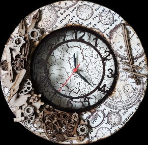 Decoupage wall clock