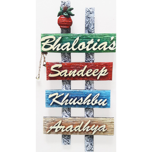 Four Panel Name Plate|family Name Plate