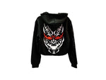 Hannya V2 (Black Rose) Womens Crop