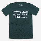 Retro Babe with the Power - Emerald