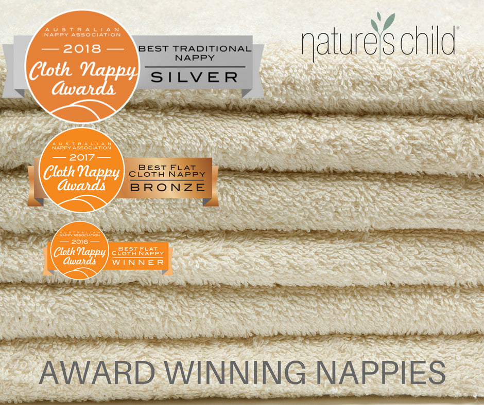 Natures Child  Luxury Towelling Nappies 6 Pack