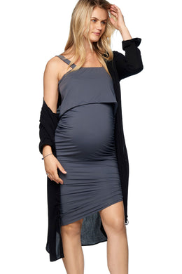 Meant To Be Nursing Dress - Slate