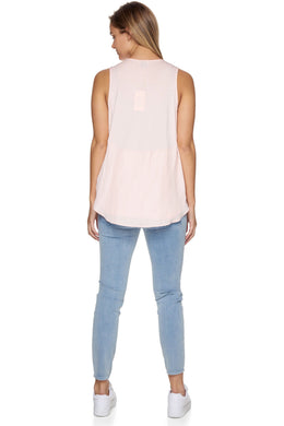 Over And Above Sleeveless Tank - Nude