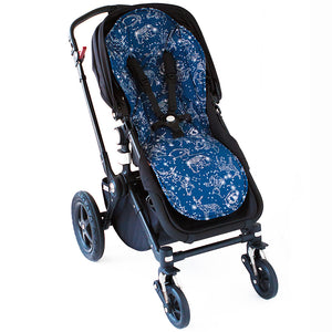 Bambella Designs Pram Liner - Navy Constellation