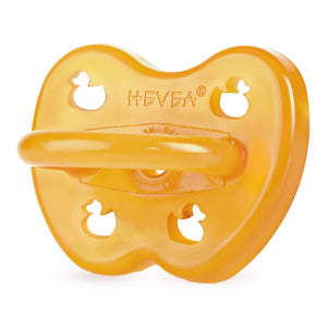 Hevea Natural Rubber Pacifier - Duck 0-3 months