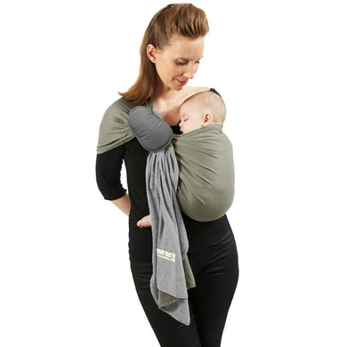 Je Porte Mon Bebe - Wrap Without a Knot Ring Sling - Grey/Olive