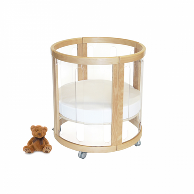 Kaylula Sova Cot Clear/Beech 6 in 1 -Special Order call us