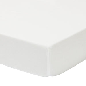 Jersey Cot Fitted Sheet - White