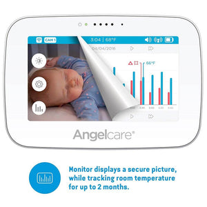 Angelcare Video Movement Monitor with Touch Display & Wireless Pad